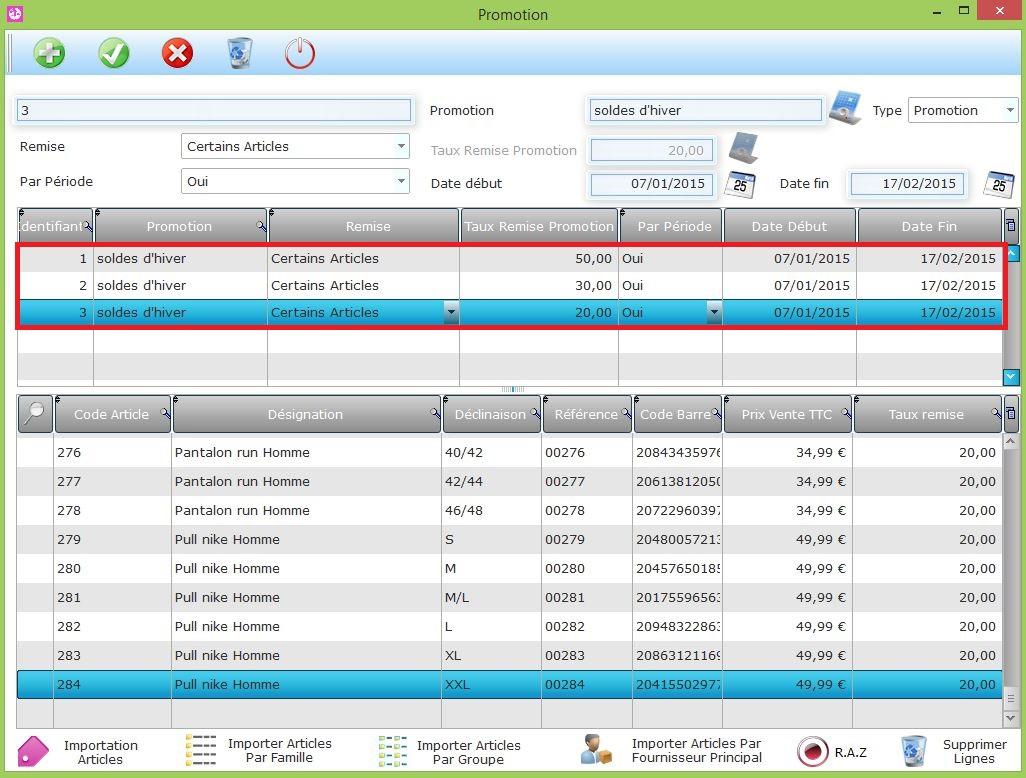 Gestion des soldes d'hiver sur votre logiciel de caisse LinéoSoft